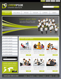 Fototapety Green lime and gray website Template with business people