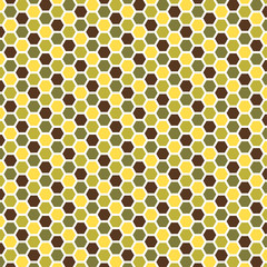 Abstract hexagonal shape pattern with four colors