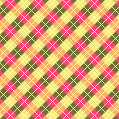 Abstract square pattern with pink and green tones