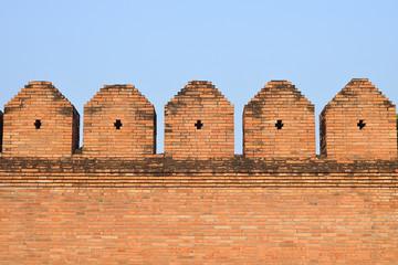 Old brick wall, tha phae gate, Chiangmai