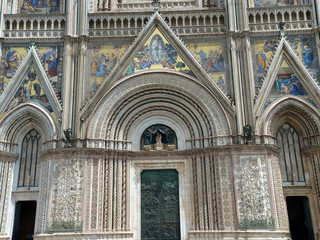 Main west portal - Orvieto Cathedral . Orvieto,Umbria, Italy