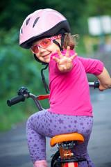 little girl cyclist