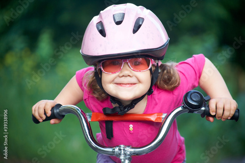 little girl cyclist