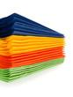 Multi-colored paper napkins