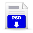Download Button - PSD