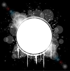 white hole splash on black background vector