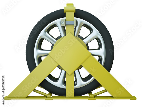 Car wheel clamp – punishment for illegal parking