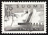 Postage stamp Finland 1959 Pyhakoski Power Station