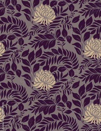 Floral seamless pattern for retro wallpapers