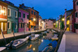 Burano canal reflections at dusk