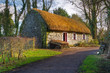 Old cottage house in Bunratty Folk Park, Co. Clare, Ireland