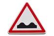 Panneau de danger ' Cassis ou dos d'âne '