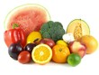 Watermelon, melon and grapefruit with other fruits