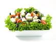 Greek salad with feta, olives and lettuce