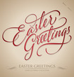 'easter greetings' hand lettering (vector)