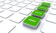 Quader Konzept Grün - Beratung Kompetenz Qualität Service 3