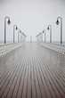 obraz - old pier in rain o...