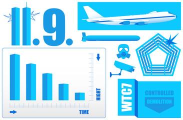 Vector Infographics (2/2) *** 9-11 WTC