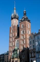 St. Mary's Basilica  - famous church in Krakow, Poland