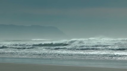 wind blown surf on the Oregon Coast