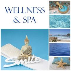 Wellness & Spa - Composition in Blau