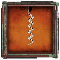 abstract cork screw