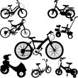 bicycles set - vector
