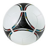 Stylish football - soccer ball on white background