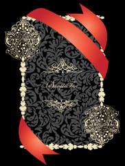Vector decorative frame, or invitation card