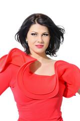 beautiful fashion black hair woman studio shoot portrait