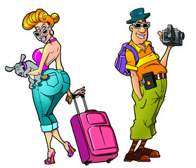 cartoon tourists, set2