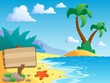 Beach theme scenery 2