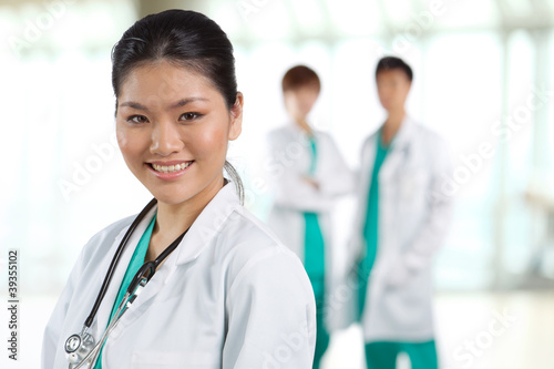 Portrait of a happy Asian Doctor