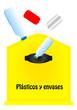 Contenedor de reciclar plastico