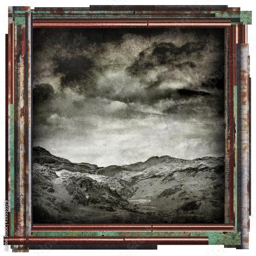 grunge landscape picture