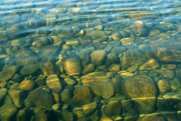 calm streams, transparent and clear