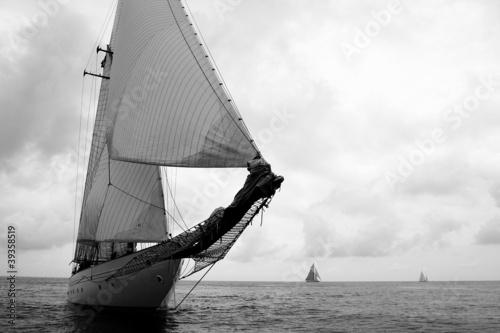 Plakat duch zespołu esprit ekipy voilier regate mer oceanu żeglarstwo