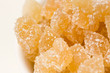 Candied ginger in a bowl