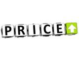 3D Price Button block text