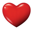 canvas print picture - Perfect red heart vector isolated