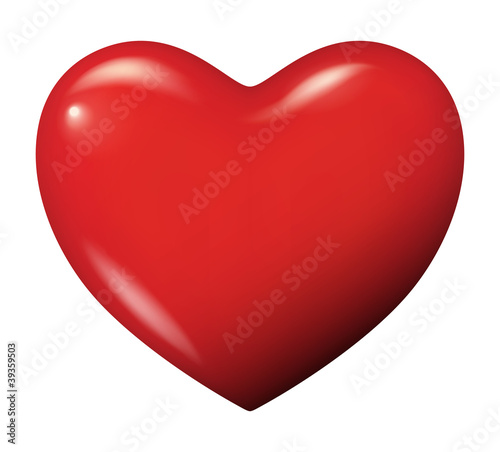 Perfect red heart vector isolated - 39359503