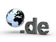 3D Domain de mit Weltkugel
