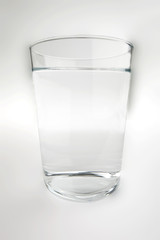 Glass of water with clipping path