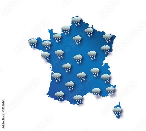 Carte météo France - pluie
