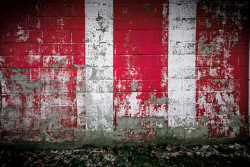 Grungy Red and White Wall