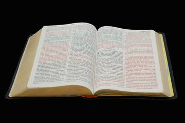Bible Isolated on Black