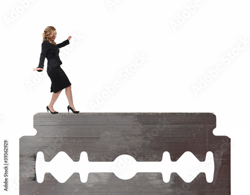woman on blade