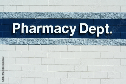 Pharmacy Dept sign