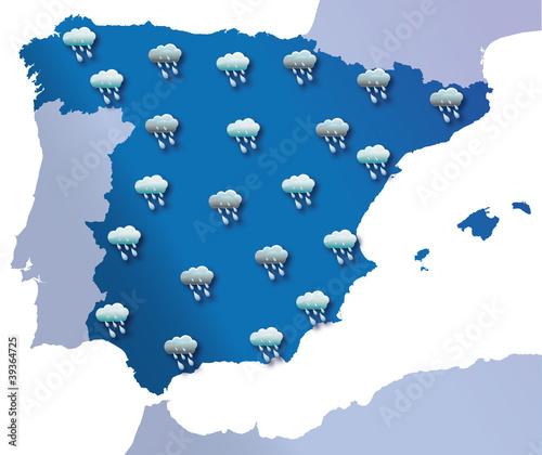 lluvia espana: