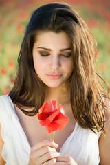 girl with poppy